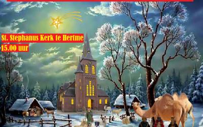 Feestelijke Kerstkoperklanken in Hertme's kerk